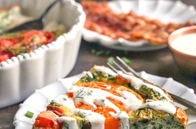 Paleo Whole30 BLT Breakfast Bake