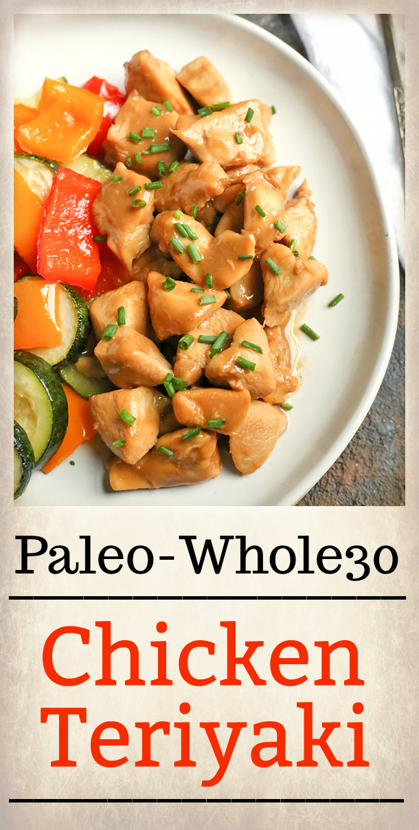 This Paleo Whole30 Chicken Teriyaki is a healthy version of the classic take-out dish. Instant Pot and stove-top instructions included. It's gluten free, dairy free, low fodmap and sweetened with only a little fruit juice.