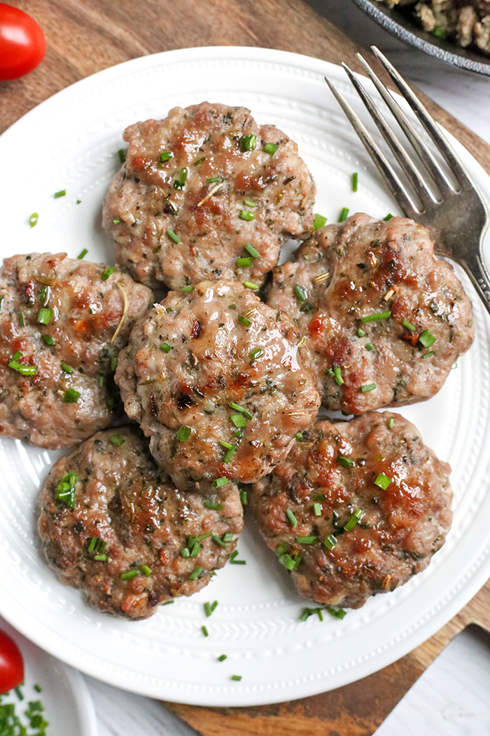 This Paleo Whole30 Homemade Italian Sausage is so easy to make and packed with flavor. A blend of savory seasonings make healthy, delicious sausage that is sugar free, low carb and low fodmap.