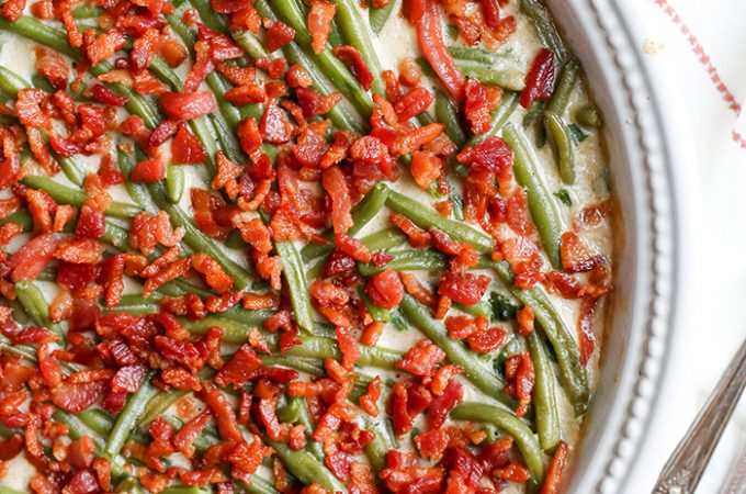 Paleo Low FODMAP Green Bean Casserole