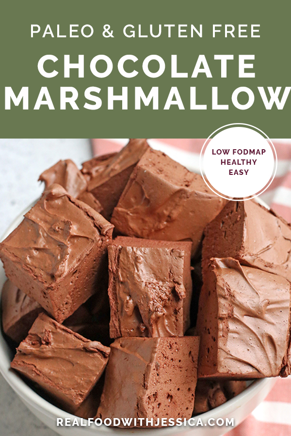 These Paleo Chocolate Marshmallows are easy to make and so delicious! Only 4 ingredients and the best tasting marshmallows you'll ever have. Gluten free, dairy free, and maple syrup sweetened.