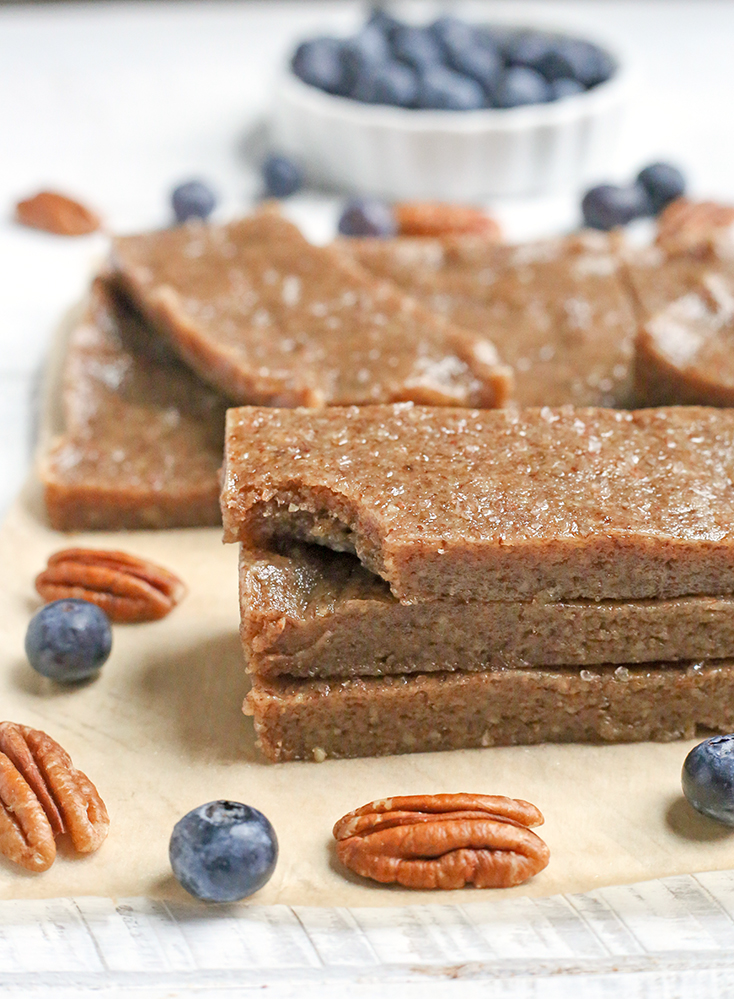 These Paleo Maple Sea Salt Protein Bars are a copycat version of the popular RXBAR. They are made with just a few simple, real ingredients. Gluten free, egg free, dairy free, and so easy to make!