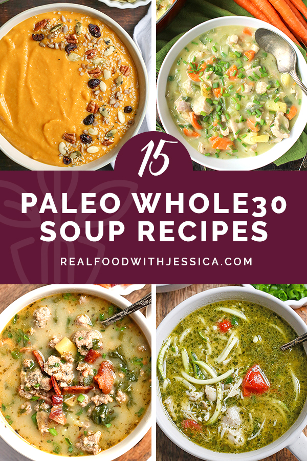 This round up of 15 Paleo Whole30 Soups you will love will give you lots of inspiration to keep dinner interesting. All hearty, flavorful, and delicious! All gluten free, dairy free, egg free with low carb and low FODMAP options.