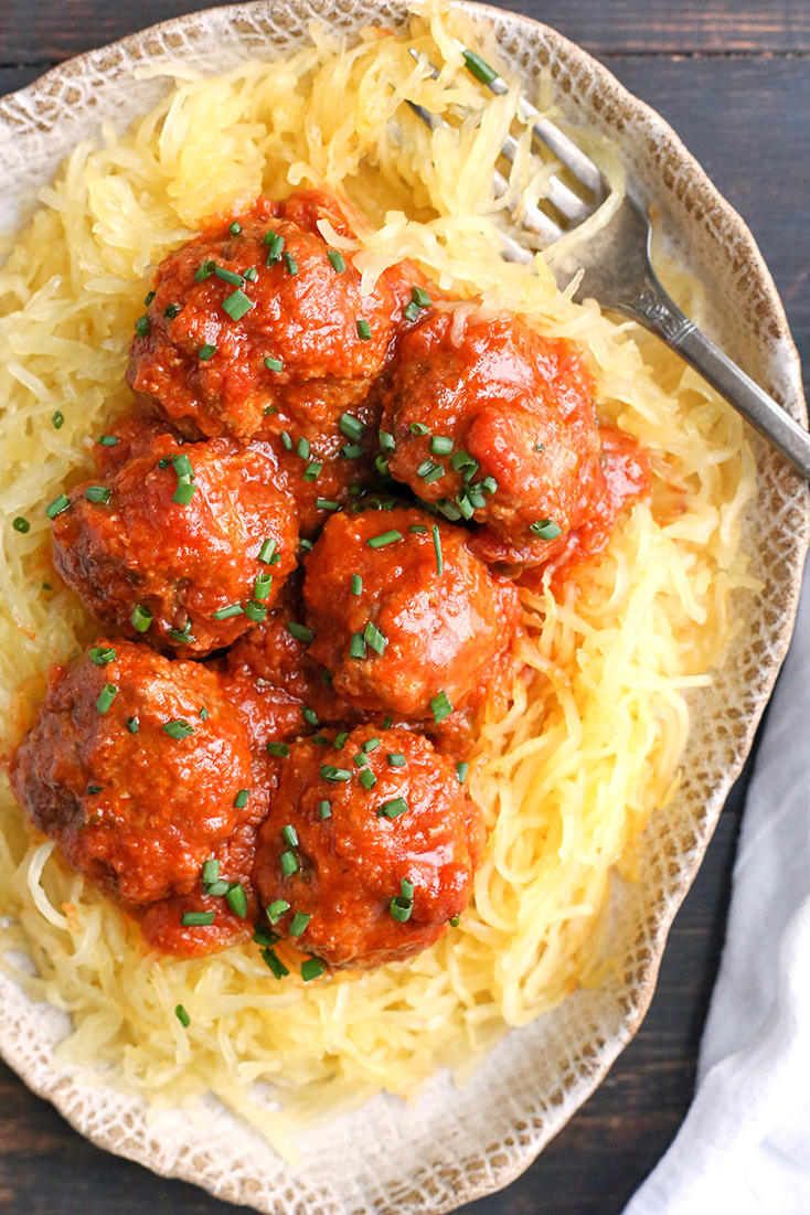 These Paleo Whole30 Instant Pot Meatballs are quick and flavorful. With just 8 minutes of cook time and they stay tender and juicy. They are gluten free, dairy free, low carb, and low FODMAP.