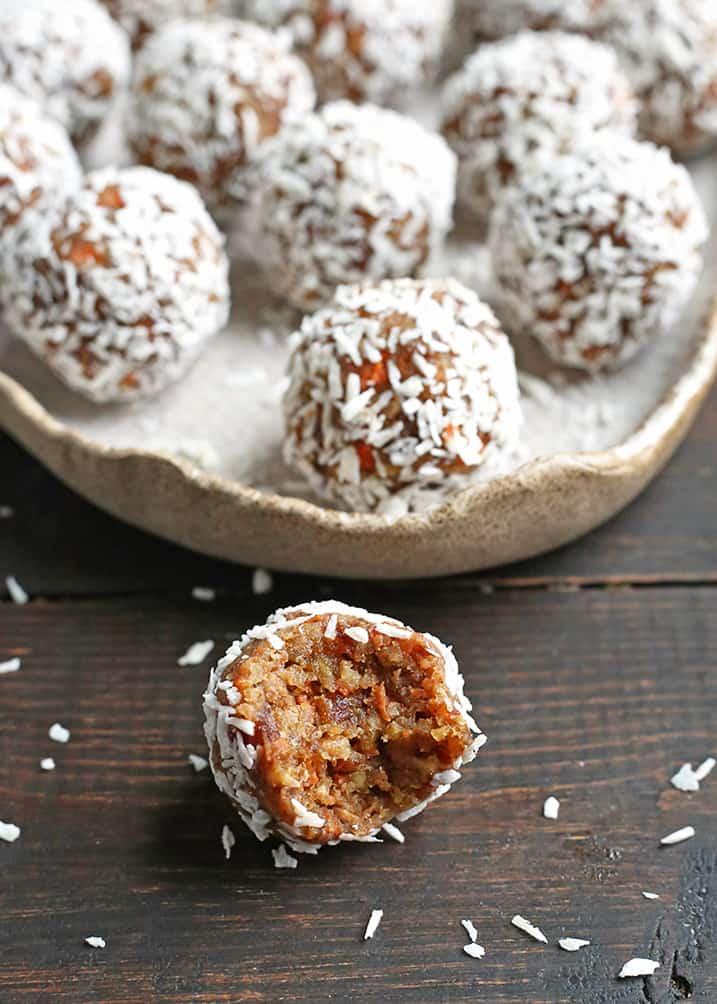 paleo carrot cake balls