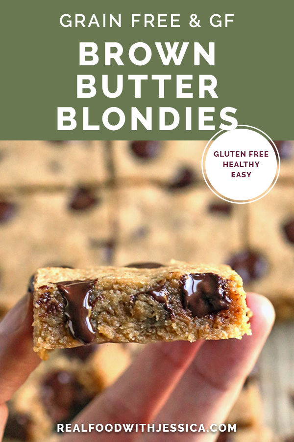 brown butter blondies with text