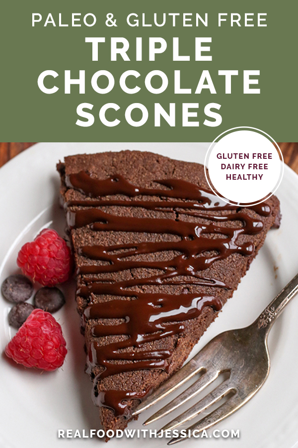 paleo chocolate scones with text