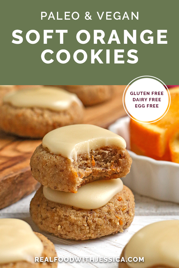 paleo vegan orange cookies with text