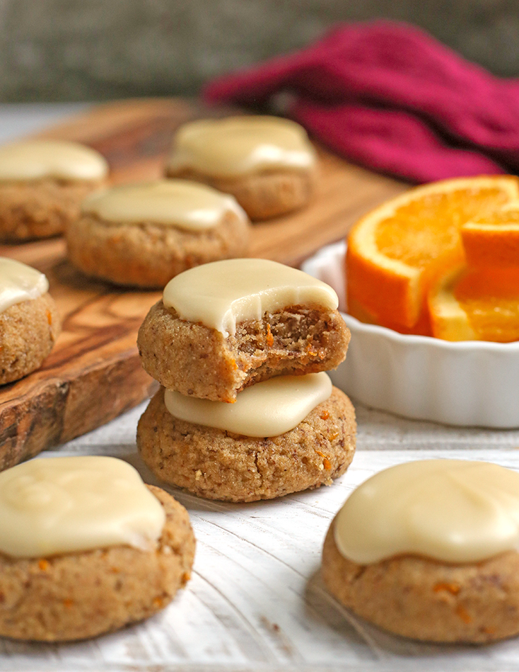 stack of paleo vegan orange cookies