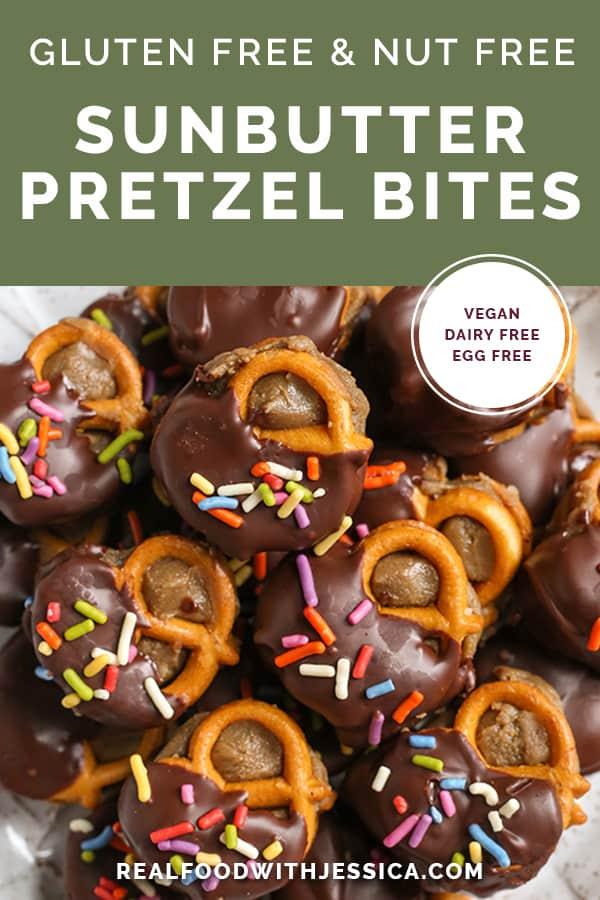 sunbutter pretzel bites with text