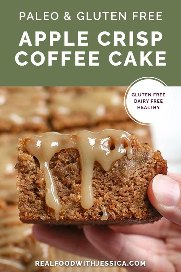 paleo apple coffee cake with text