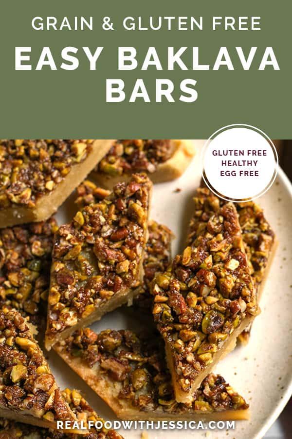 grain free baklava bars with text
